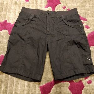 Lee Relaxed Fit Black Shorts - Size 14